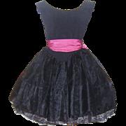 Vintage Black Best Ever Betsey Johnson Party Prom Dress Punk Label