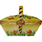 Artoria Limoges Flower Basket Box Hand Painted Signed Numbered
