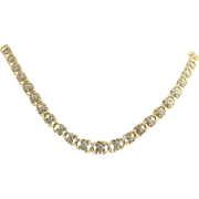 """Diamond Tennis Necklace 16"""" - 14k Yellow Gold Women's Cluster Natural 3.50ctw"""