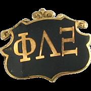 Antique Phi Lambda Xi Pin - 10k Gold c1890s Fraternity Sorority Unique