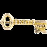 SOLD Vintage Kappa Kappa Gamma Sorority Key Pin c.1917 - 10k Yellow Gold Collectible