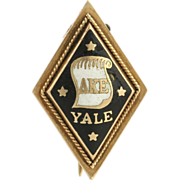 SOLD Delta Kappa Epsilon Vintage Badge - 14k Yellow Gold Fraternity Pin Yale c.1890
