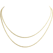 """SOLD 30.25"""" 1.5mm Long Rope Chain Necklace - 14k Solid Yellow Gold Polished Womens A+"""