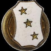 SOLD Beta Theta Pi Pledge Pin - Vintage fraternity Lapel Greek Society 3 Stars