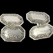 SOLD Art Deco Cuff Links- Sterling Silver Men's Fine Estate 1920s - 1930s Collectible