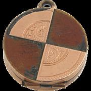 SOLD Victorian Trinket Charm - Antique Pill Box Opens Pendant Fob Estate