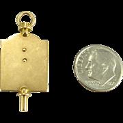 Rare Phi Delta Chi Fraternity Watch Key Fob - 14k Yellow Gold Pharmacy Vintage