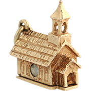 Stanhope Church Charm - 14k Rose Gold Detailed *AS IS* Women's Vintage Estate