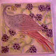 REDUCED Early Rookwood Parrot Tile Trivet 1927