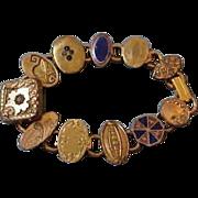 Vintage Cufflink Gold Filled Bracelet