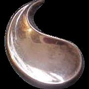 Large Anton Michelsen Denmark Sterling Silver Modernist Brooch by Strand Book Piece