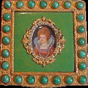 SALE A Rare Vintage Italian Enamel Compact