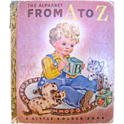 SOLD Little Golden Book, The Alphabet from A to Z, 1942