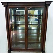 REDUCED Large Double Door Mahogany China Closet