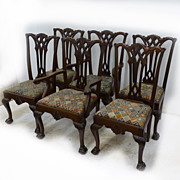 REDUCED Set of 6 Chippendale Style Chairs