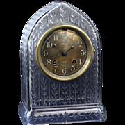 SALE Rare Chelsea Ship Clock in an Antique Cut Glass Case