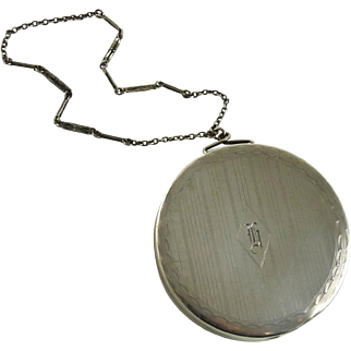 Art Deco Sterling Silver Dance Compact