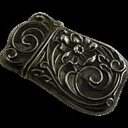 Art Nouveau Silver Match Safe or Vesta