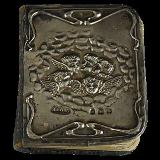 Antique Art Nouveau Silver Mounted Prayer Book
