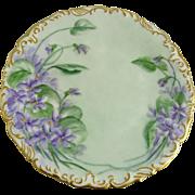 Tressemann and Vogt Limoges Porcelain Hand Painted Plate