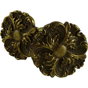 Victorian Gilt Brass Curtain Tiebacks