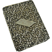 Art Nouveau Sterling Silver Playing Card Case