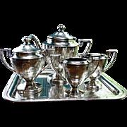 Edwardian Silver Plate Tea Service 5 Piece
