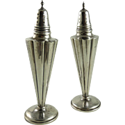 Art Deco Sterling Silver Salt and Pepper Shakers