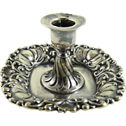 SALE PENDING Tiffany and Company Silver Plate Repousse Candlestick
