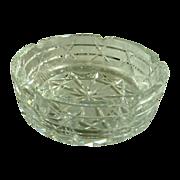 Large Mid Century Cut Glass Ashtray
