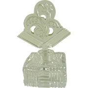 Czech Glass Perfume Bottle Art Deco
