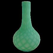Victorian Cut Velvet Blue Green Bottle Vase