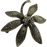 Art Deco Theodore Fahrner Sterling and Marcasite Brooch