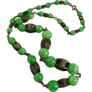 Art Deco Czech Glass Bead Necklace