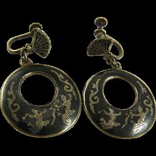 Siam Sterling Silver Drop Earrings