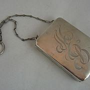 Edwardian Sterling Silver Necessaire Aide Memoire
