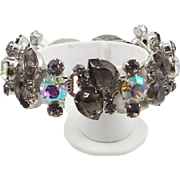 DeLizza & Elster Juliana Black Diamond & Aurora Borealis Bracelet