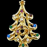 Vintage Monet Christmas Tree Pin Book Piece