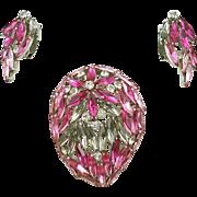 Vintage Schoffel & Co. Pin & Earring Demi Parure