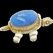 Vintage Florenza Nodder Head Turtle Pin Cushion