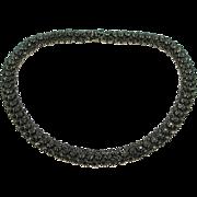 Vintage Vendome Black Rhinestone Necklace