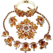 DeLizza & Elster Juliana Honey Amber Parure