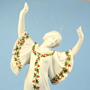 Gebruder Heubach Dancing Woman, White Bisque, Holly