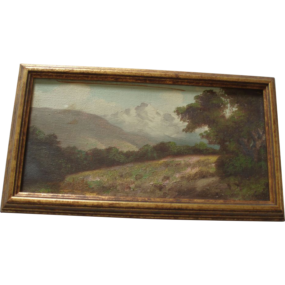 Old Landscape Oil Painting
