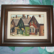 SOLD Quaint Vintage Painting, Signed