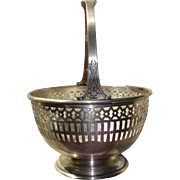 SALE Vintage Sterling Silver Concord Silver Co. Basket