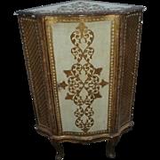 SALE Old and Beautiful Italian Florentine Gilded Corner Cabinet
