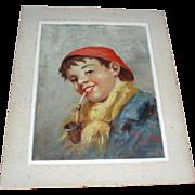 Antique Portrait of a Boy Oil Painting