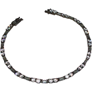 Vintage Sterling Silver and CZ Bracelet