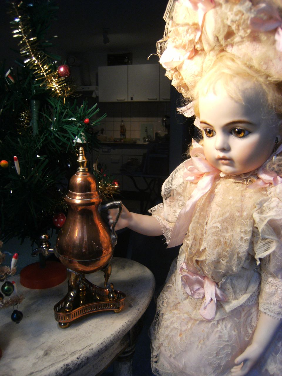 """Most lovely little """"Samovar"""" for display by your dolls...."""